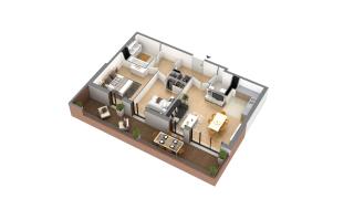 appartement G-1-3 de type T3