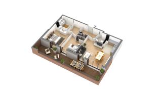 appartement G-3-3 de type T3