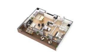 appartement H-3-4 de type T3