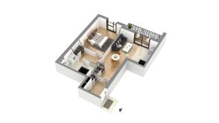 appartement I-1-5 de type T2