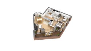 appartement J-0h-4 de type T3