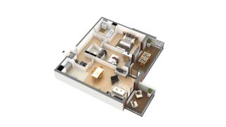 appartement J-1-3 de type T3