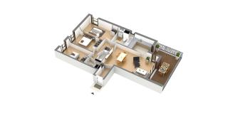 appartement J-2-2 de type T4