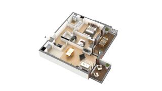 appartement J-3-3 de type T3