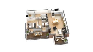appartement J-3-5 de type T3