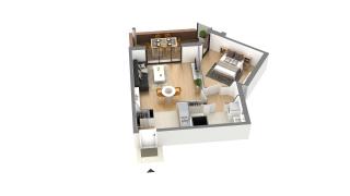 appartement J-3-7 de type T2