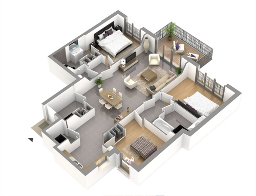 Le domaine penelope appartement neuf le plessis robinson for Conception 3d appartement