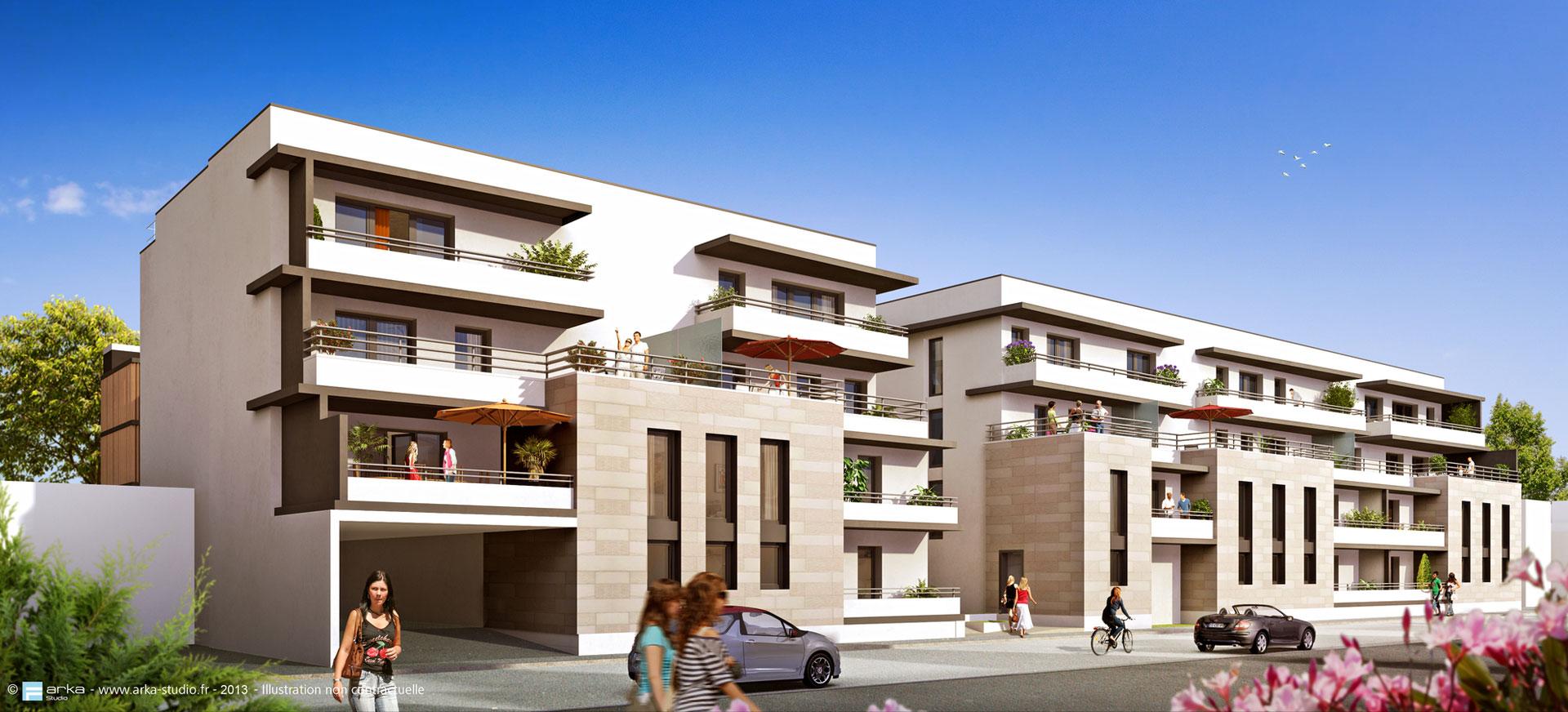Les terrasses de galin appartement neuf bordeaux for Programme de logement neuf