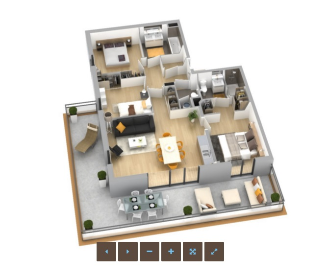 R sidence genovese appartement neuf ajaccio corse for Conception appartement 3d
