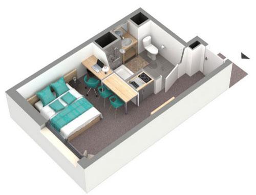 T n o apparthotel logement neuf bordeaux lac gironde for T2 sur bordeaux