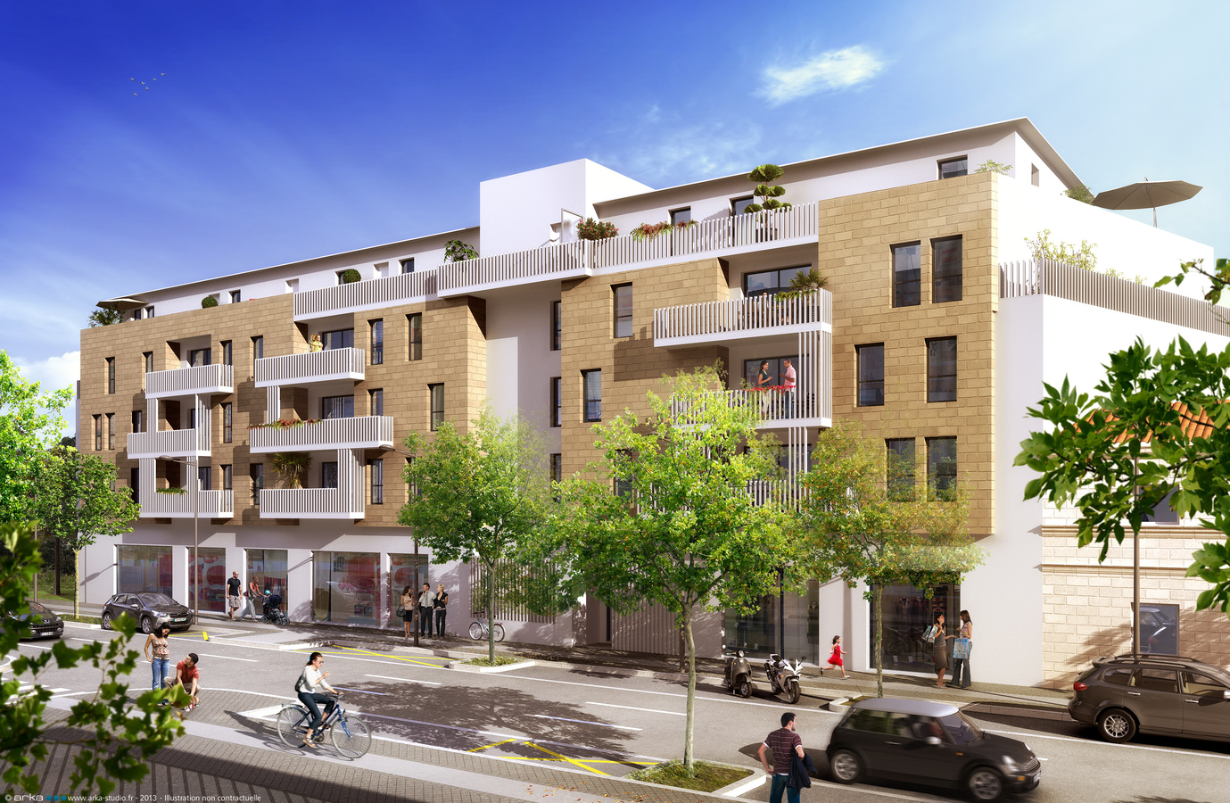 R sidence h m ra 44 appartements neufs bordeaux for Appartement bordeaux