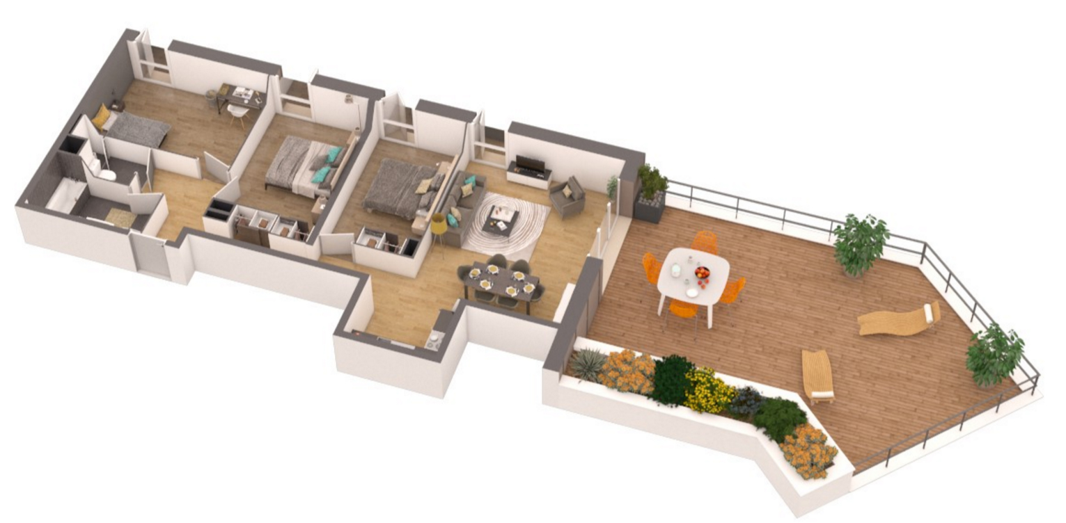 Residence saint andrews appartement neuf pessac gironde for Conception appartement 3d