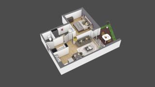 appartement 2A001 de type T2