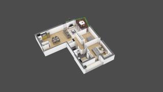 appartement 2A002 de type T3