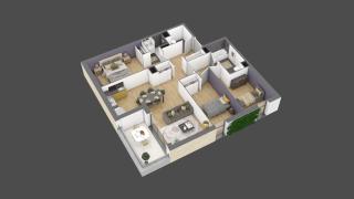 appartement 2A004 de type T4