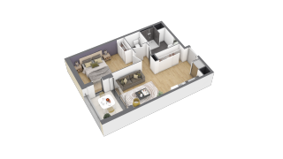 appartement 2A005 de type T2