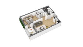 appartement 2A006 de type T2