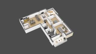 appartement 2A102 de type T3