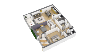 appartement 2A106 de type T3