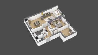 appartement 2A107 de type T3