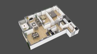 appartement 3A004 de type T3
