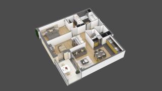 appartement 3A005 de type T3