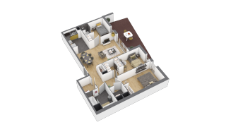 appartement 3A010 de type T4