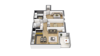 appartement 3A111 de type T3