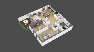 appartement 3B001 de type T3