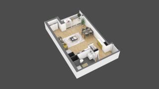 appartement 3B004 de type T1