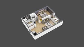 appartement 3B011 de type T2