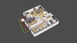 appartement 3B017 de type T3