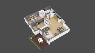 appartement 3B018 de type T3