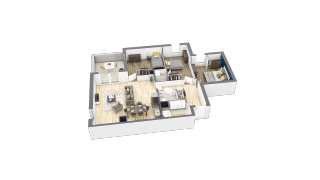 appartement A104 de type T4
